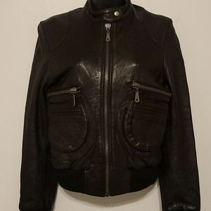 Doma aviator leather jacket size xs